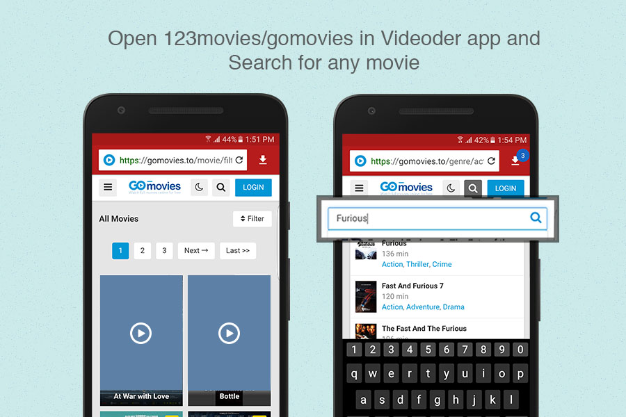 Download 123Movies movies using Videoder